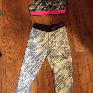Nike Jogger bra and capris